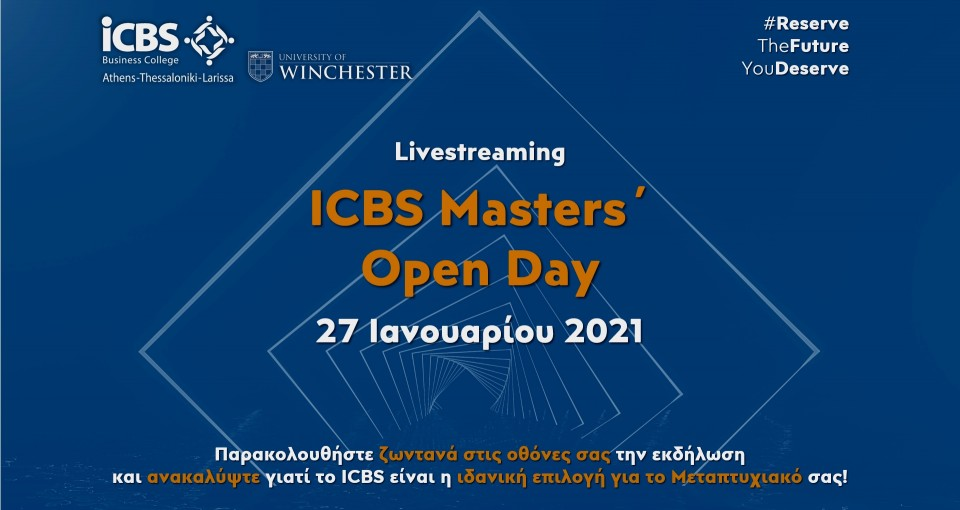 ICBS Masters' Open Day 2021